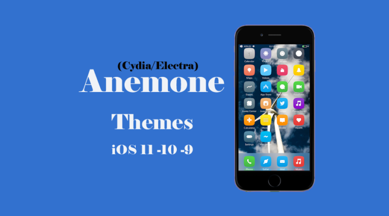 Top and Best Compatible Anemone themes for iOS 11.3.1 or below