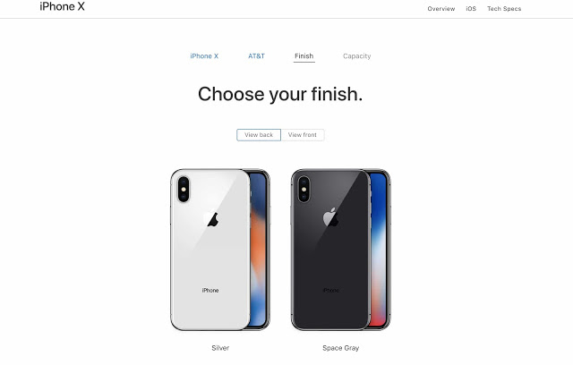 choose iphone x color imangoss