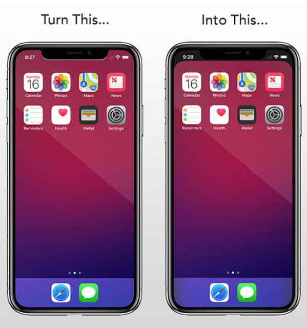 Hide Iphone X Notch With Notcho App