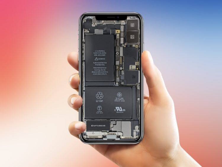 Download Iphone X Transparent Wallpaper Showing All Hardware Details
