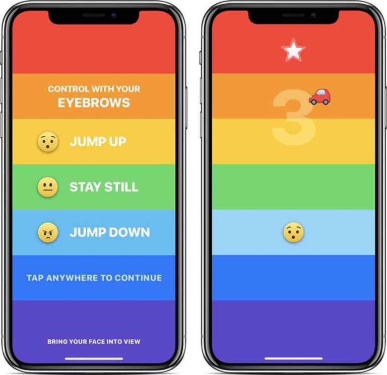 Download Rainbrow & Play with your Eyebrows on iPhone X