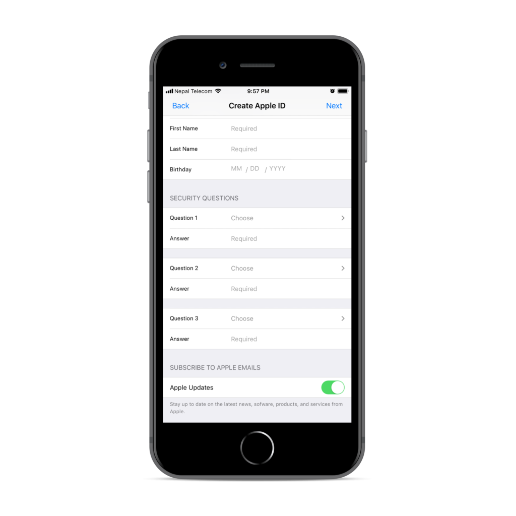 icloud-id-signup