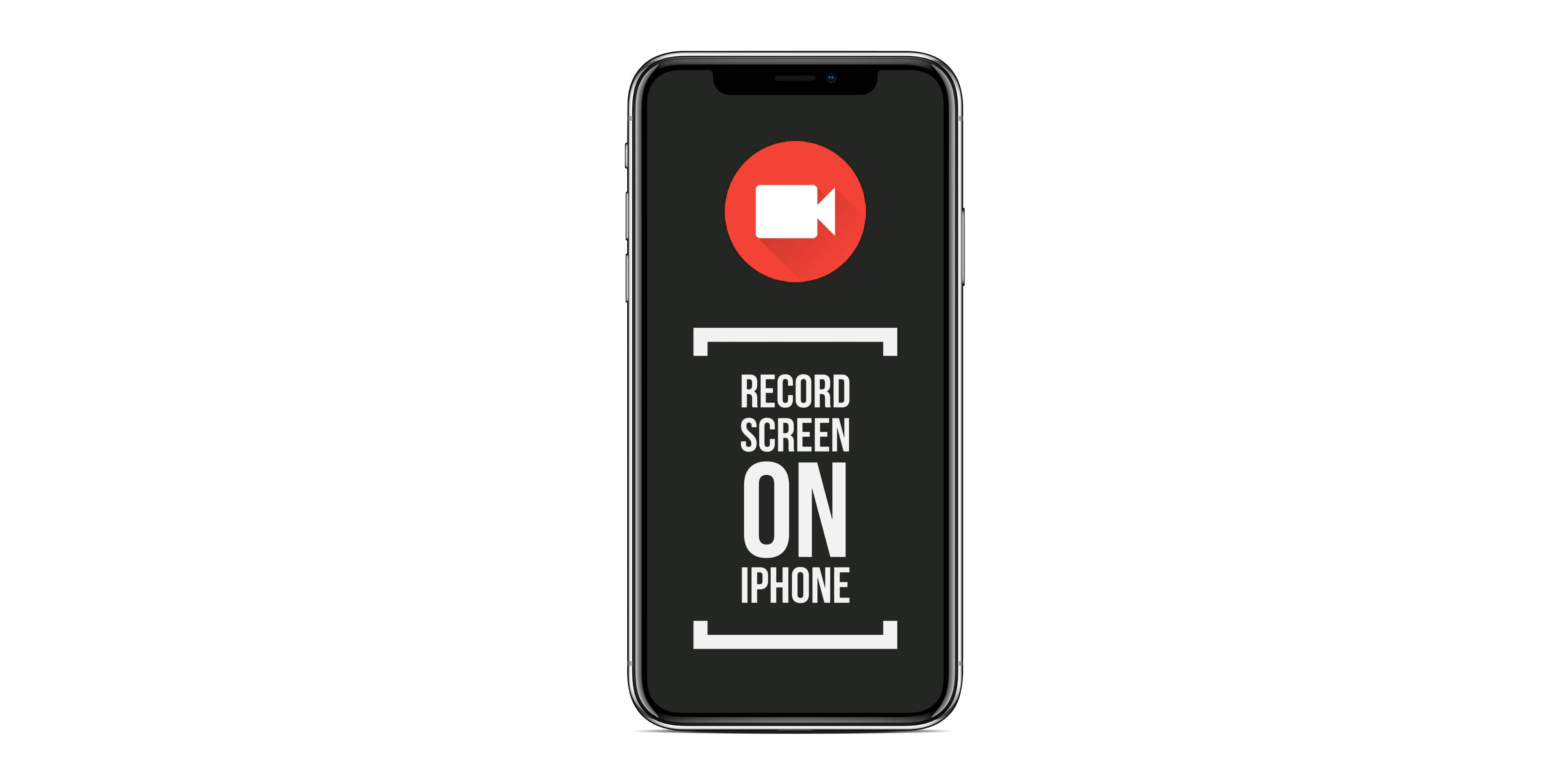 record iphone x screen