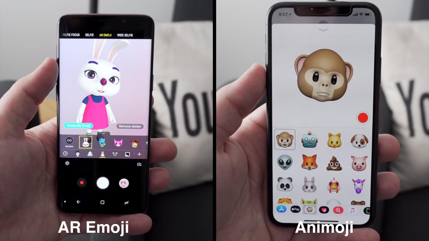Animoji Vs AR Emoji
