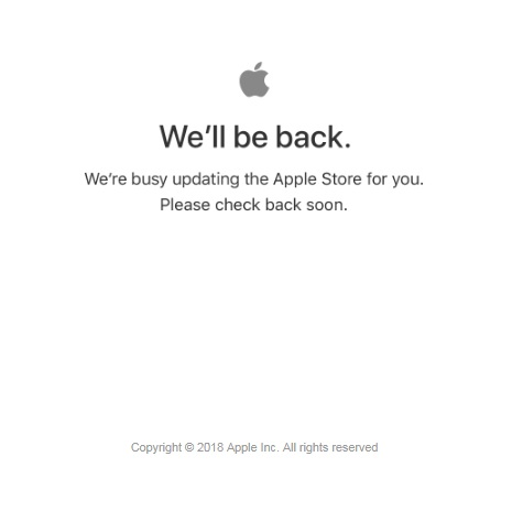 apple store goes down