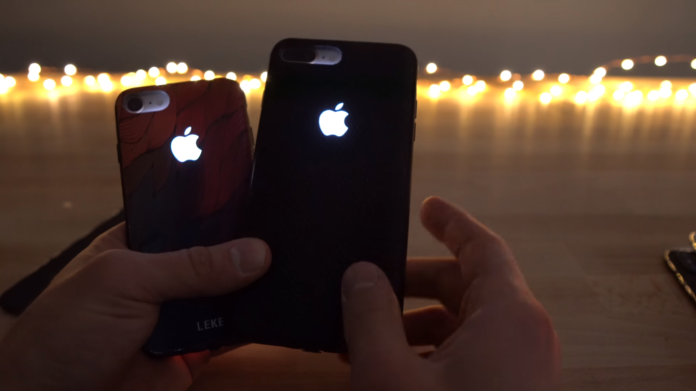 glowing apple logo case for iphone
