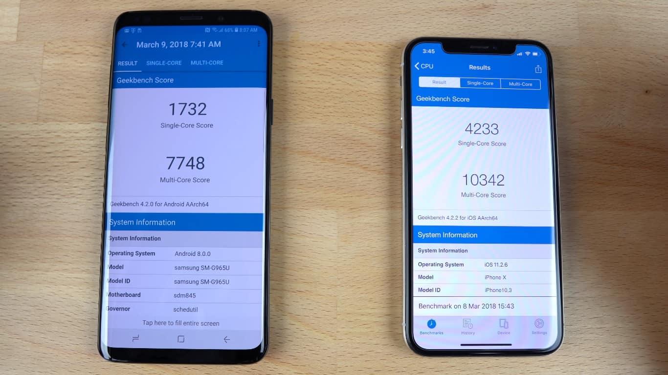S9 PLUS VS IPHONE X R BENCHMARK
