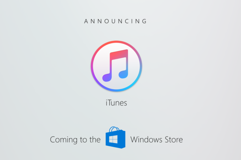 iTunes now available on Windows 10 Store