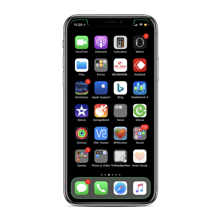 Customize your iPhone X with a Disco Light Notch & Dock [Supports iOS 11 or later]