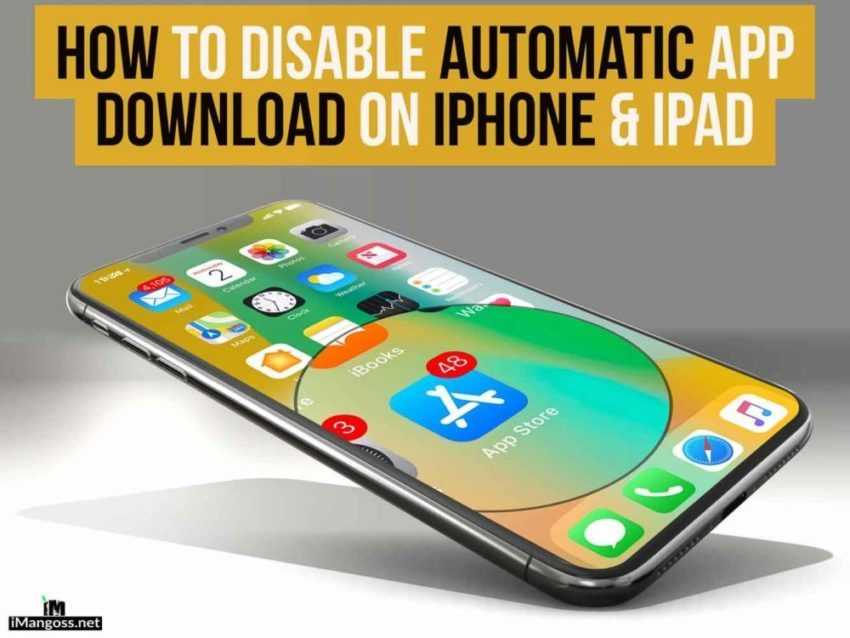 turn off automatic download iphone