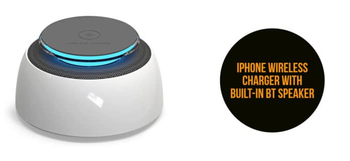 iphone wireless charger with bluetooth speaker amazon