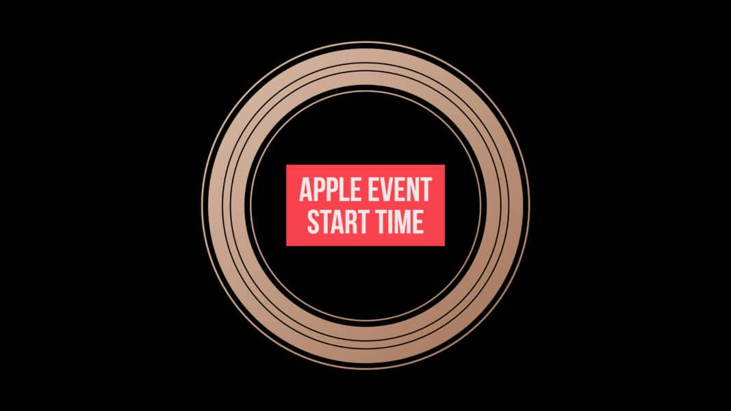 Apple event start time zone