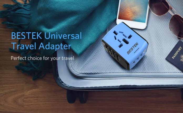 BESTEK Universal Travel Adapter with USB C Charger