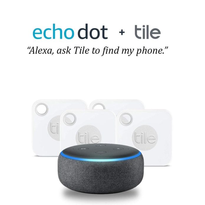 echo dot 3rd gen + tile