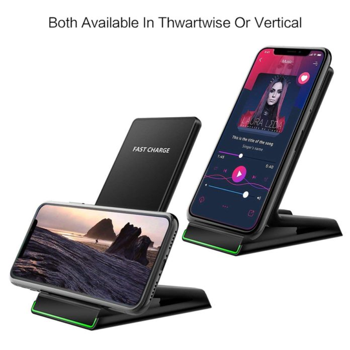 ANREONER 2 in 1 Wireless Fast Charger & Phone Stand for iPhone