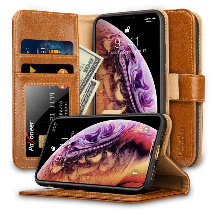 Labato leather folio case for iPhone Xs max