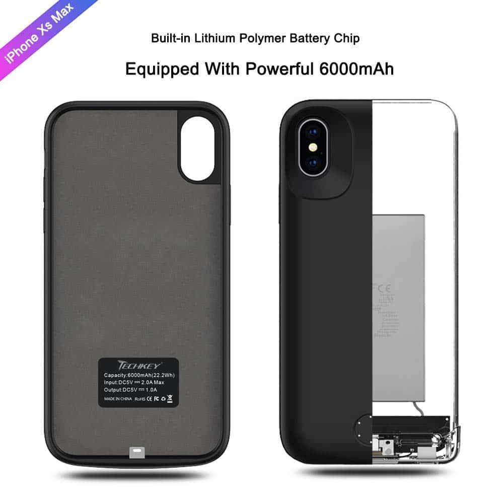 Techkey 6000mAh iphone xs max battery case