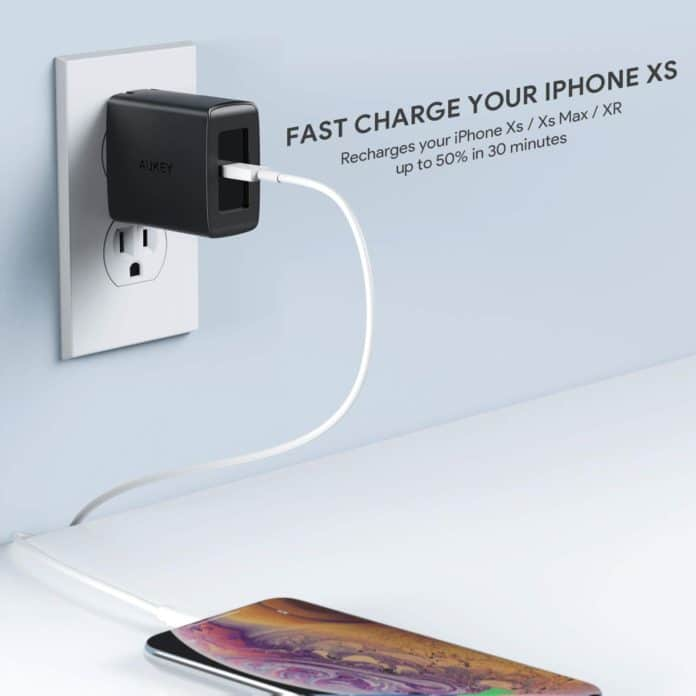 aukey 18w wall charger