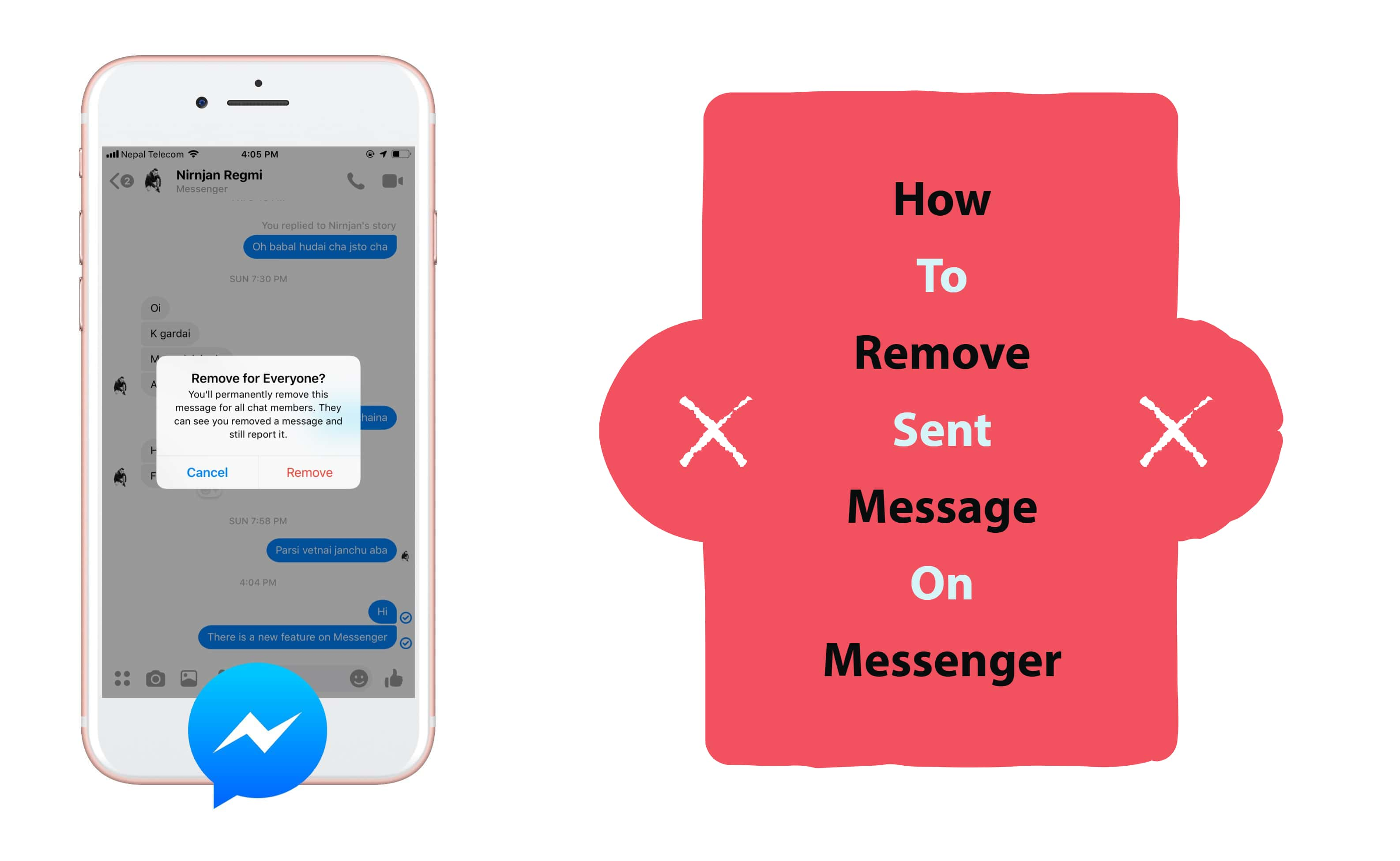 How To Remove Sent Message On Messenger