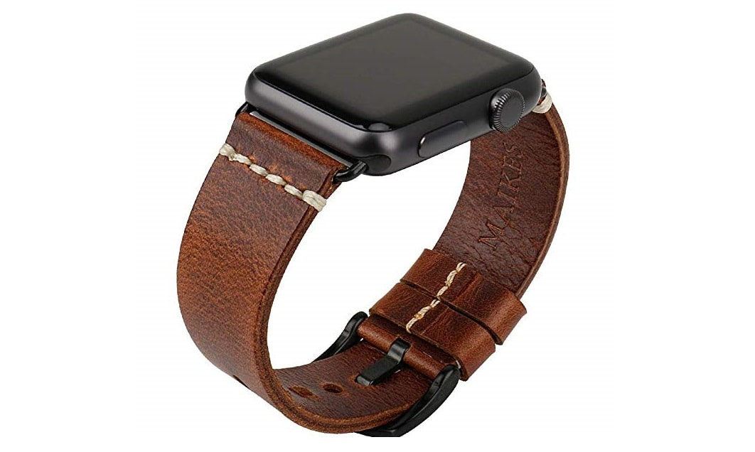 MAIKES Leather Apple Watch Band