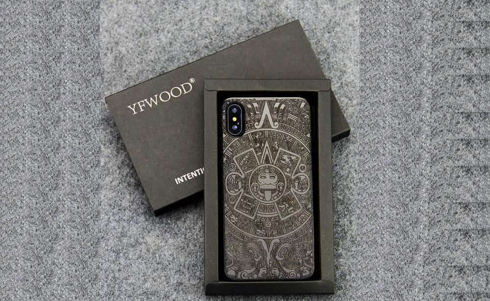YFWOOD for iPhone Xs Wood Case