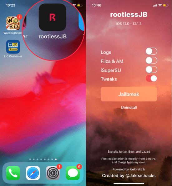 rootlessjb-ios-12