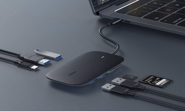 AUKEY 7 in 1 USB C Hub