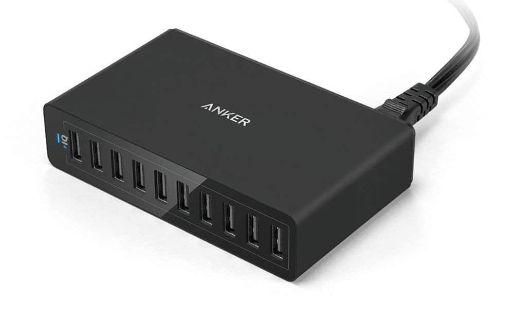 Anker 60W 10 port USB wall charger