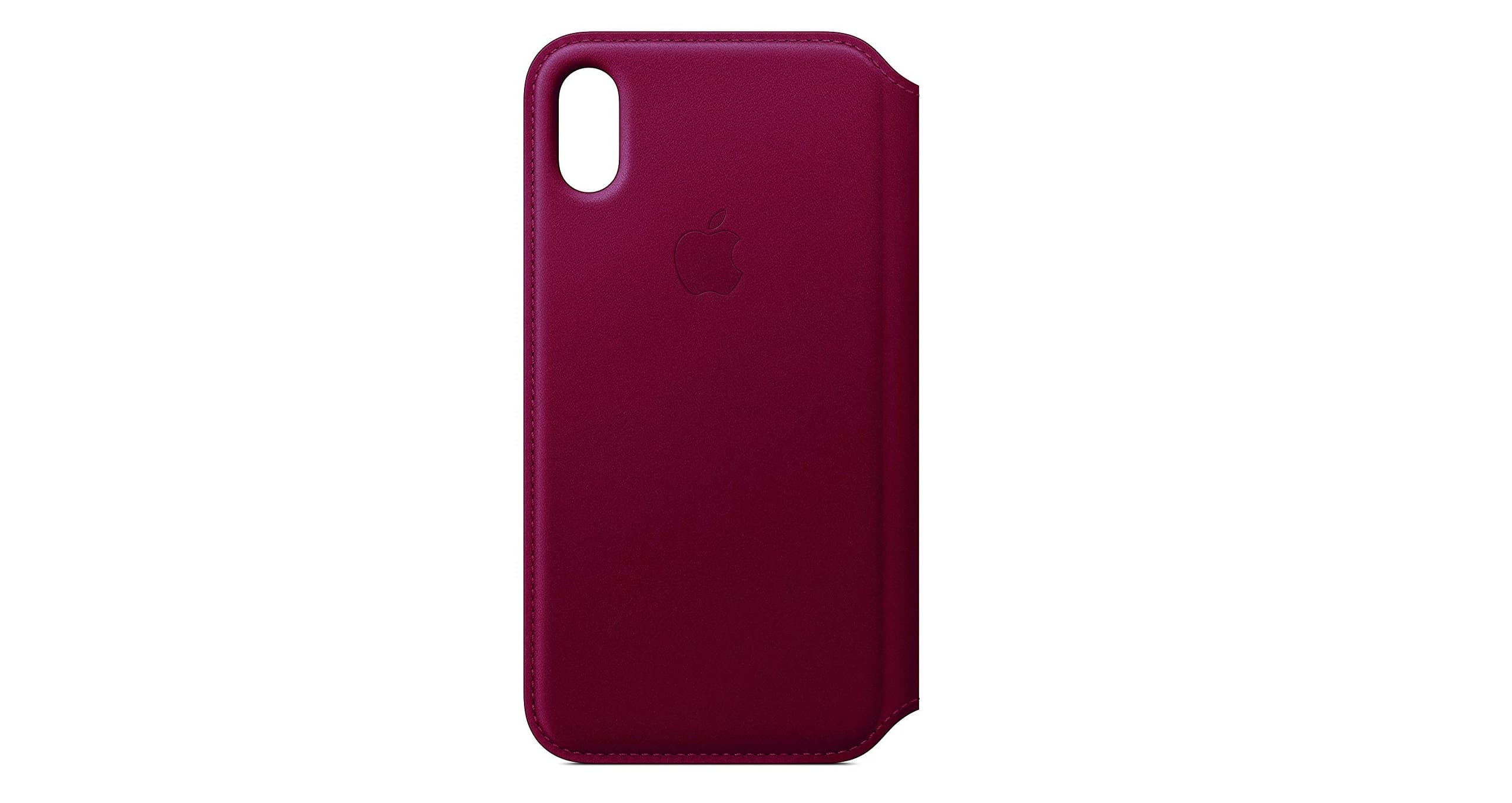 Apple Leather Folio (for iPhone X) - Berry