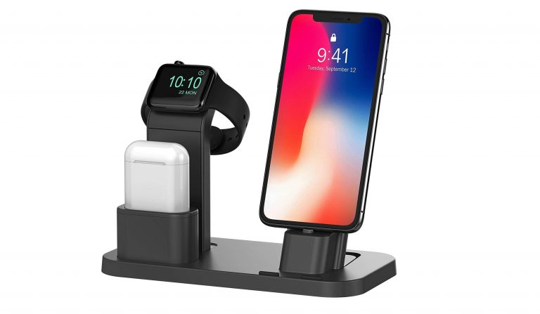 Organize Your iPhone, AirPods & Apple Watch With This Top Rated Dock Station