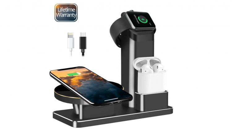 JingooBon 10W Fast Wireless Charger Stand-min