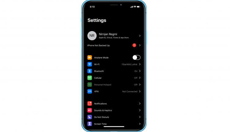 Noctis12 Add System Wide Dark Mode on iPhone Running iOS 12
