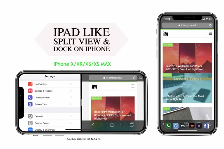 Get iPad Like Split View & Dock on iPhone X & Lower [How-to]