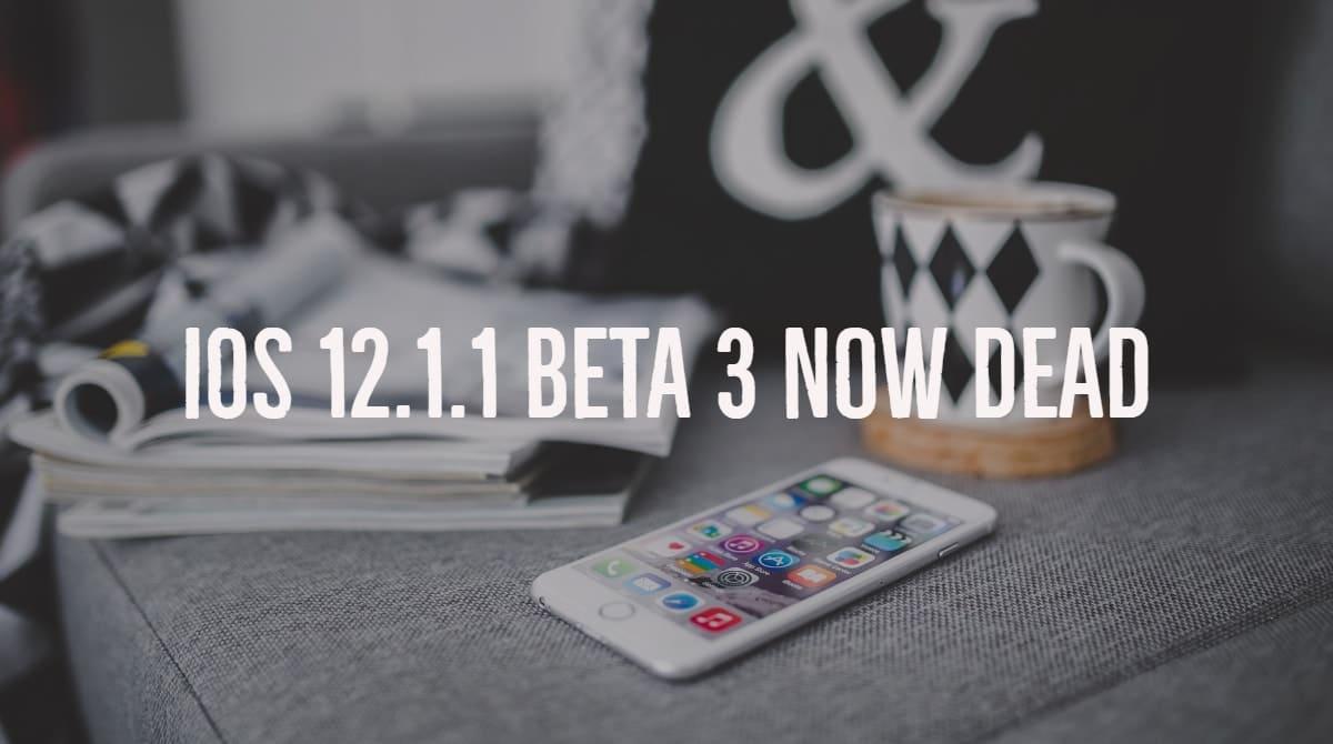 iOS 12.1.1 Beta 3 Not available downgrade