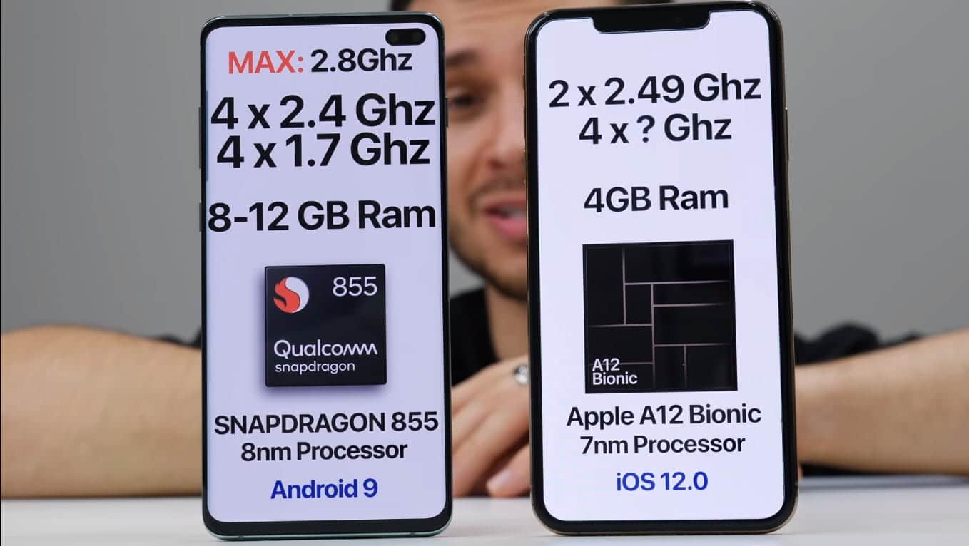 iPhone Xs Max Vs Samsung Galaxy S10 Plus speed test video