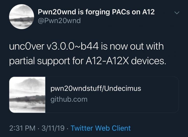 unc0ver-v300-beta-44-partial-A12X-support