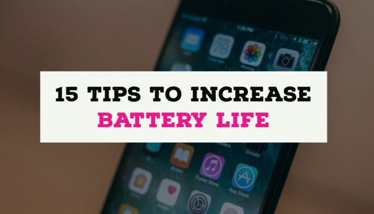 Tips To increase battery life on iphone