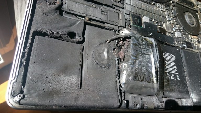 MacBook Pro Battery Explodes While in Normal Use
