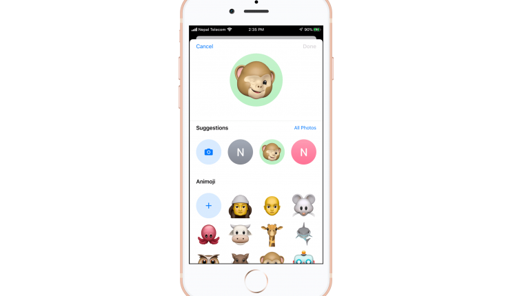 Customize iMessage Profile Picture in iOS 13