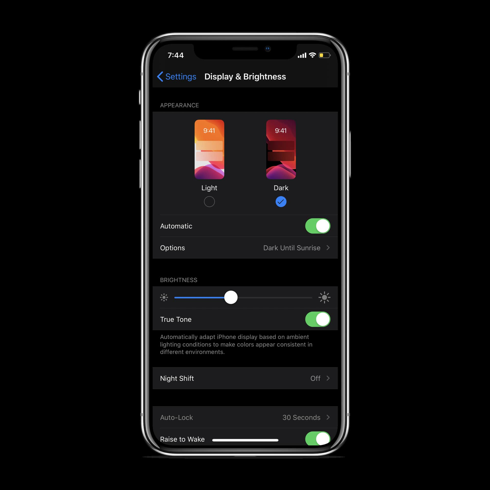 enable-disable-dark-mode-ios-13-min