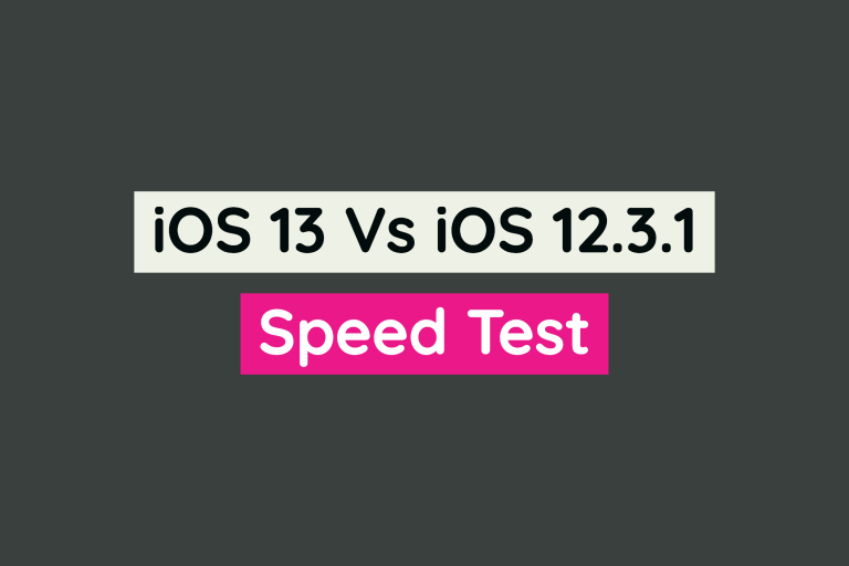 iOS 13 Vs iOS 12.3.1 | Which One is Faster? [Video]