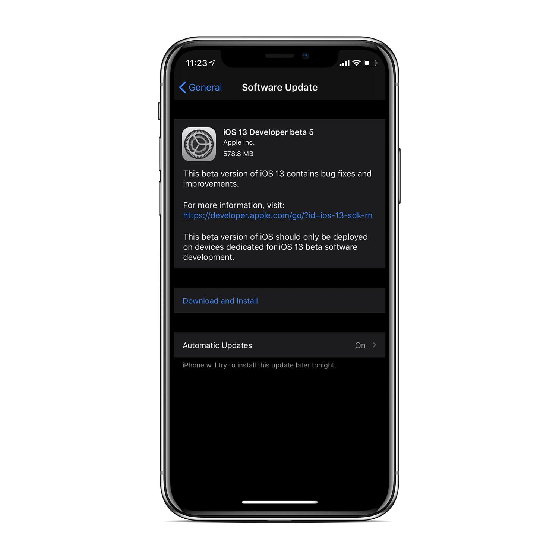 ios beta download 5 13