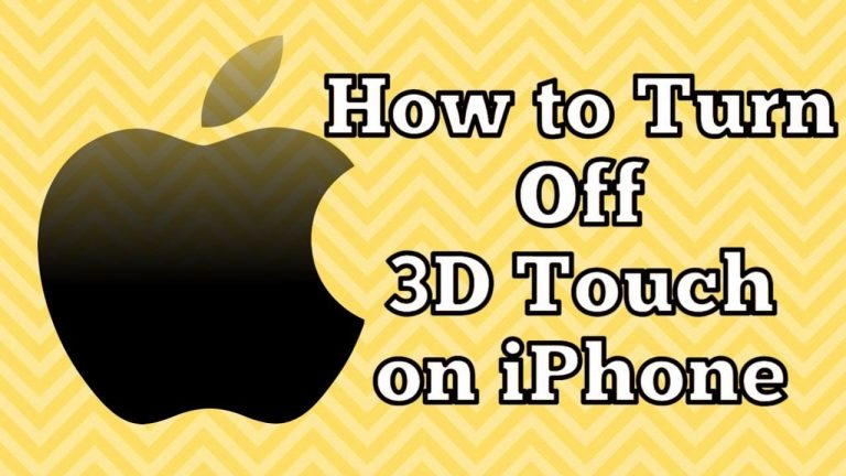How to turn off 3D Touch On iOS 13