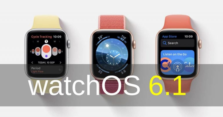 Apple Release watchOS 6.1 to Apple Watch Series 1 And Series 2