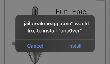 "Locate Unc0ver iOS 13-13.3 jailbreak and tap the big red ""DOWNLOAD"" button and pops with the install option. Tap Install"