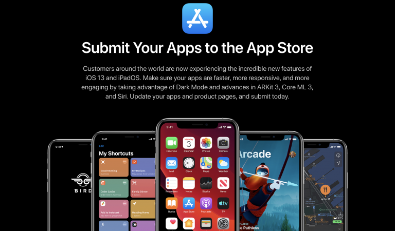 Developers must build apps using the iOS 13 SDK . If not, won't be accepted