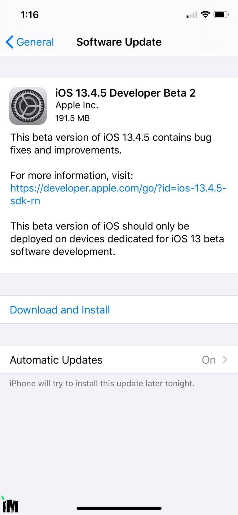 Apple Releases iOS 13.4.5 Beta 2 and iPadOS 13.4.5 Beta 2