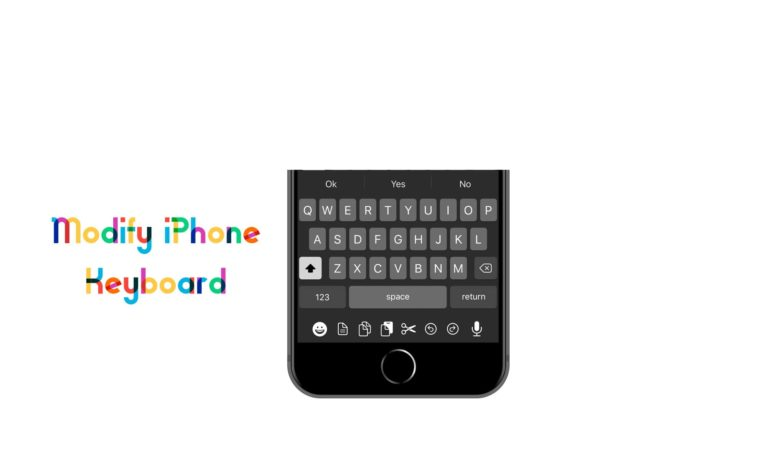 How to modify iPhone Keyboard on iPhone