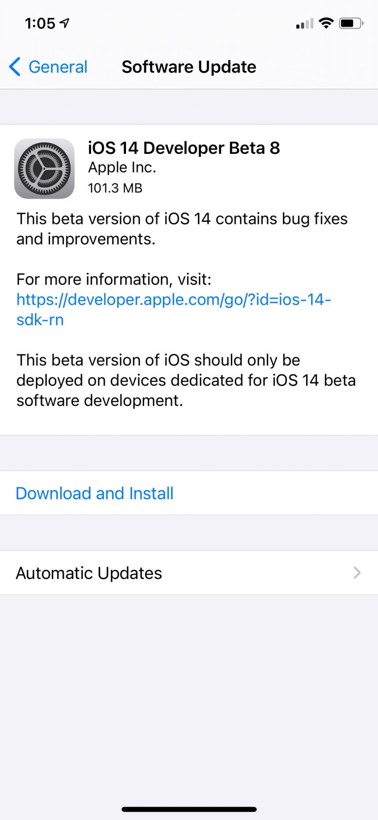 Apple Releases iOS 14 Beta 8 and iPadOS 14 Beta 8 [Download]